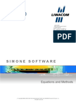 SIMONE Software Equations and Methods