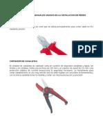 Herramientas Manuales Usadas en La Instalacion de Redes