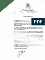 Mensaje del presidente Danilo Medina con motivo al Día de las Secretarias 2019