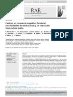 Cambios en resonancia magnética funcional en estudiantes de medicina con y sin restricción moderada de sueño