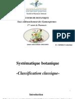 Cours Botanique 2 Gymnospermes