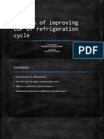 Methods of Improving COP of Refrigeration Cycle
