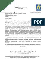 Carta Al Ministro de Transporte (27!06!2016)Final