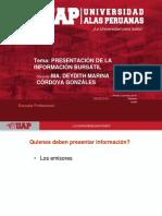 SEM 3 pesentacion de la informacion uap