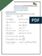 2.1 Ecuaciones Diferenciales de Variables Separables