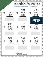 Fichas Sumas 3x3 Con Soluciones PDF Parte1