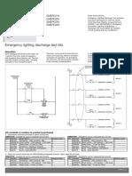 Emergency lighting discharge test kits