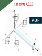 Stress at Points a,B,C,D