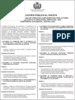 Convocatoria PROFOCOM 04 2019 Ult
