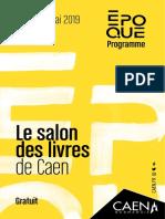 Programme du salon du livre de Caen 2019, Époque