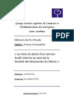La mise en place d'un service Audit interne au sein de la Société des Brasseries du Maroc[1].pdf
