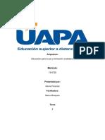 Tarea 2 de Educacion Para La Paz.