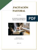 Capacitación Pastoral - Sección 1 - Gramática