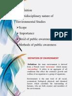 Environment,Scope,Public Awareness