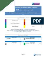 IBDP May 2020 Exam Schedule