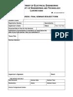 M.Sc. request form + comments Form