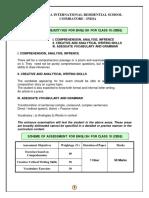 XI CBSE Syllabus Outline