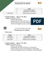 Evaluaciones 5TO bÁSICO