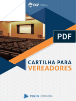 Cartilha Para Vereadores - TCE