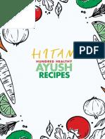 Ayush 100 Recipes English