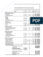 Costo de Produccion de Quinua Organica