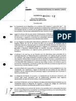 ACUERDO 434-12 Ministerio de Educacion Ecuador