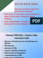 Trends in Respect of IP Activities