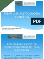 Percepção do professor sobre neurociências aplicada a educação