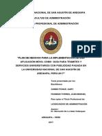 PLAN DE NEGOCIO PARA IMPLEMENTACION DE UNA APLICAION MOVIL COMO GUIA PARA TRAMITES Y SERVICIOS UNIVERSITARIOS.pdf