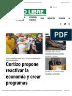 Cortizo propone reactivar la economía y crear programas culturales en Los Santos - Metro Libre