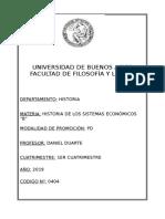 Historia de Los Sistemas Económicos b (Duarte) - 1c 2019