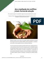 Conciliação e Mediação de Conflitos Ambientais_ Forma de Solução - DM.com.BR