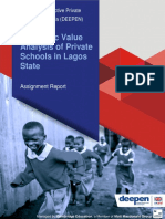 Economic Value Analysis of Private Schools in Lagos State 1