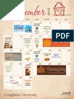 November Becker Brandeis Calendar