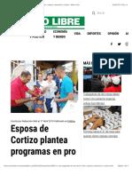 Esposa de Cortizo plantea programas en pro de la niñez, mujeres, educación y cultura - Metro Libre