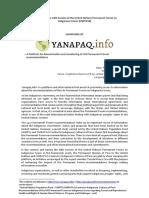 Yanapaq.info - UNPFII18 Side Event - Concept Note