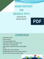 Seminer Report on Mobile Iptv