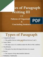 Principles of Paragraph Writing III