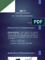 1.1 Thermodynamics 1