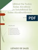 SOLUBILIDAD DE SALES ALCALINOTERREOS