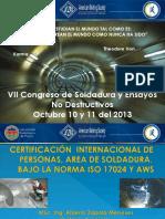 Ponencia Certificación de Personal en Soldadura en Colombia Bajo La Norma Iso 17024 y Aws.