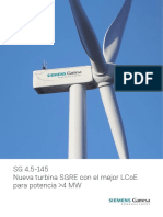 Siemens Gamesa Onshore Wind Turbine Sg 4-5-145 Es