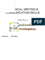 Technical Writing & Communication Skills