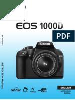 Manual Canon 1000d Ingles