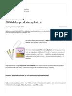 El PH de Los Productos Químicos - Blog de Limpieza