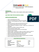 Hoja Tecnica de Aditivos Afr-30 (Actualizado 12-2018)
