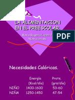 Pdaprcpc320091109la Alimentacion en El Preescolar