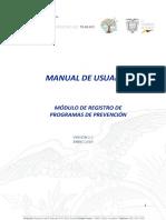 Manual de Registro de Programas de Prevención 23012019