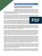 EL FORO DE ECONOMÍA Y FINANZAS PÚBLICAS