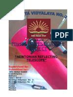 Physics Investigatory on newtonian telescope class 12